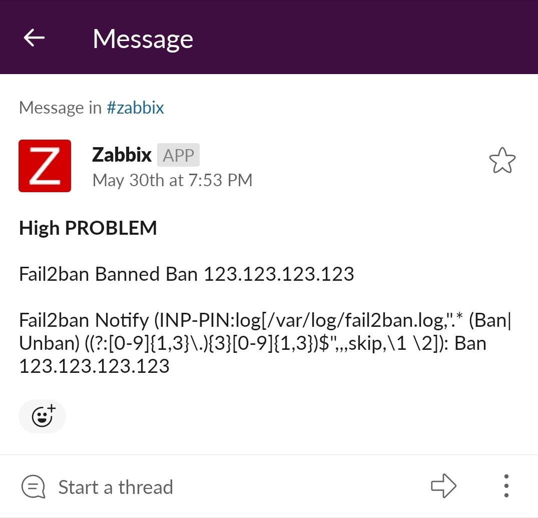 Monitoring Fail2ban actions with Zabbix · [/home/edhull/]:$